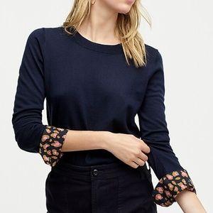 J. CREW | sz M leopard french cuff tippi sweater